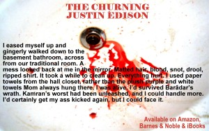 Sink with blood in it.