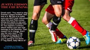 """Soccer players battling, teaser for """"The Churning"""""""