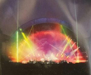 Copied image of Pink Floyd in concert